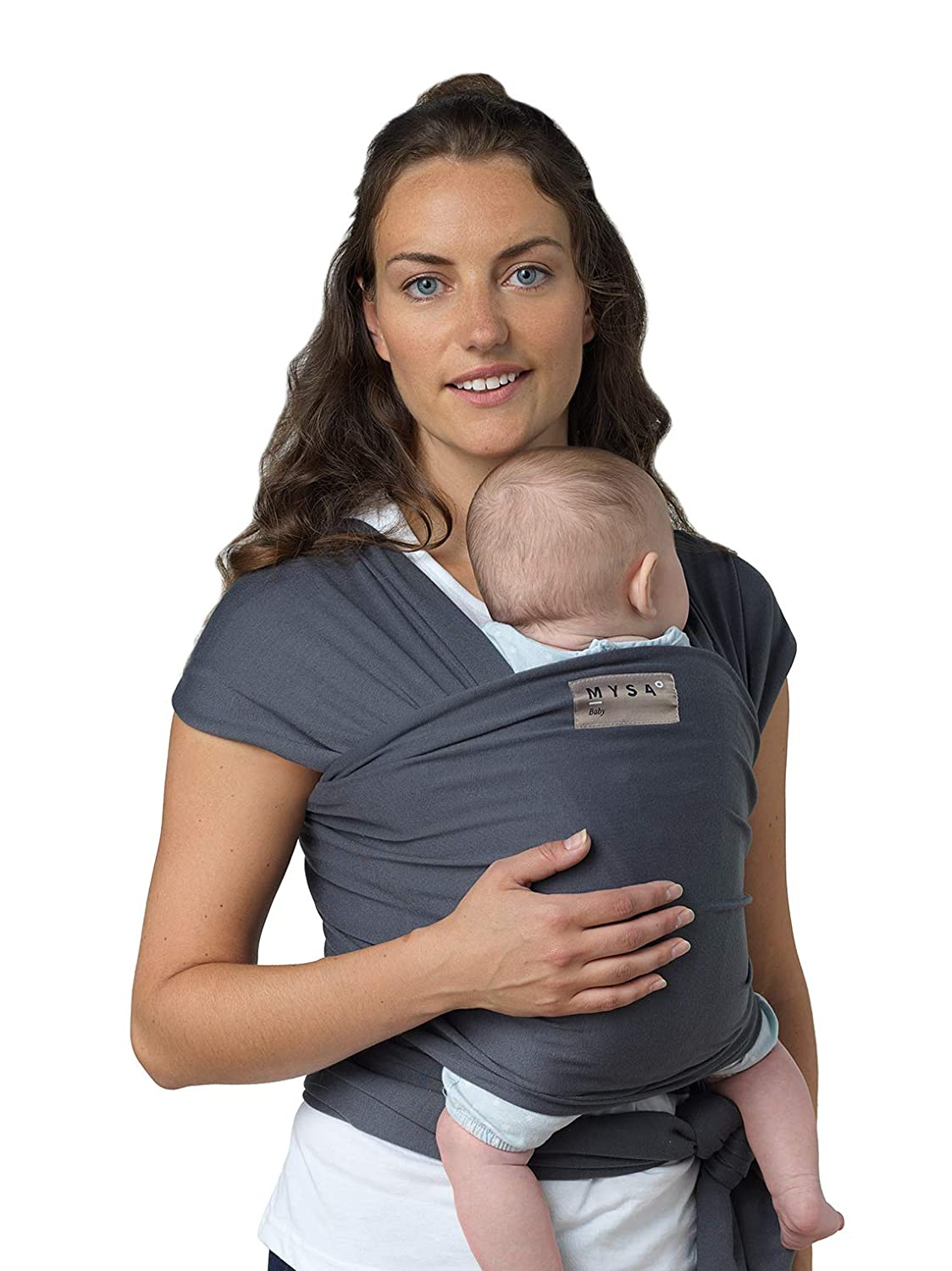 MYSA | Premium Baby Carrier | Neutral Cotton Wrap | Suitable for Newborns, Infants & Toddlers | Adjustable Breastfeeding Cover | Soothing Lightweight Hold | Ideal Nursing Wrap | Grey MYSA design
