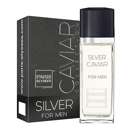 Silver Caviar - Agua de colonia para hombre, 100 ml, perfume Paris Elysees