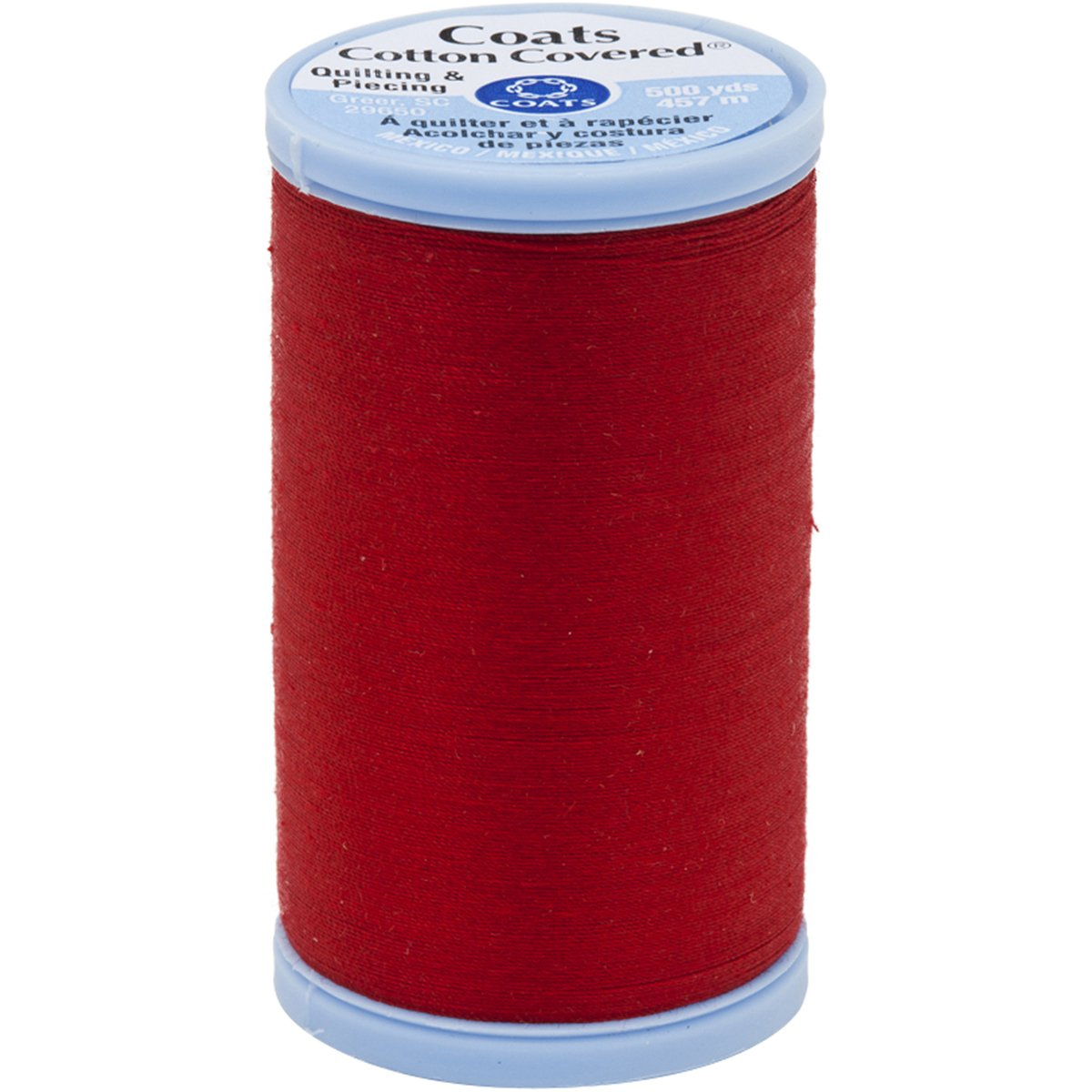Coats Cotton Covered Quilting and Piecing Thread, 500-Yard, Red S926-2250
