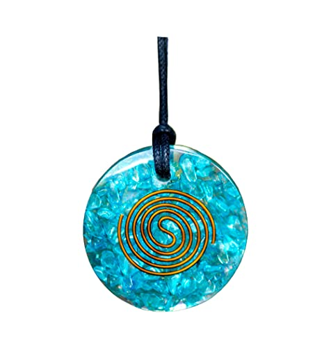 Celestial Jewelry Spiritual Healing Stone Reiki Infused Celestial Jewelry Healing Crystal Resin Art Moonstone Necklace