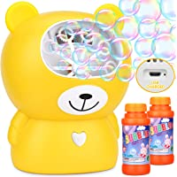 BATTOP Bubble Machine,Automatic Bubble Blower Machine Bubble Maker for Kids with 2 Bubbles Solutions and 2 Bubbles Blowing Speed Levels for Parties Outdoor & Indoor,USB Charging & Easy to Use