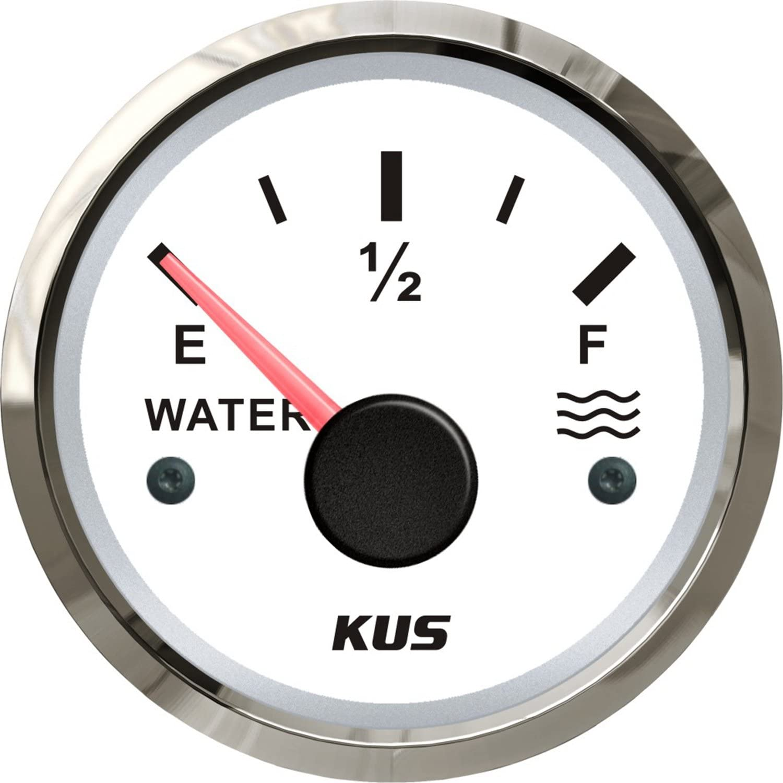 SEAWELL Kus Marine Water Temperature Gauge Boat Temp Meter 52mm 12//24V 40~120℃ Black