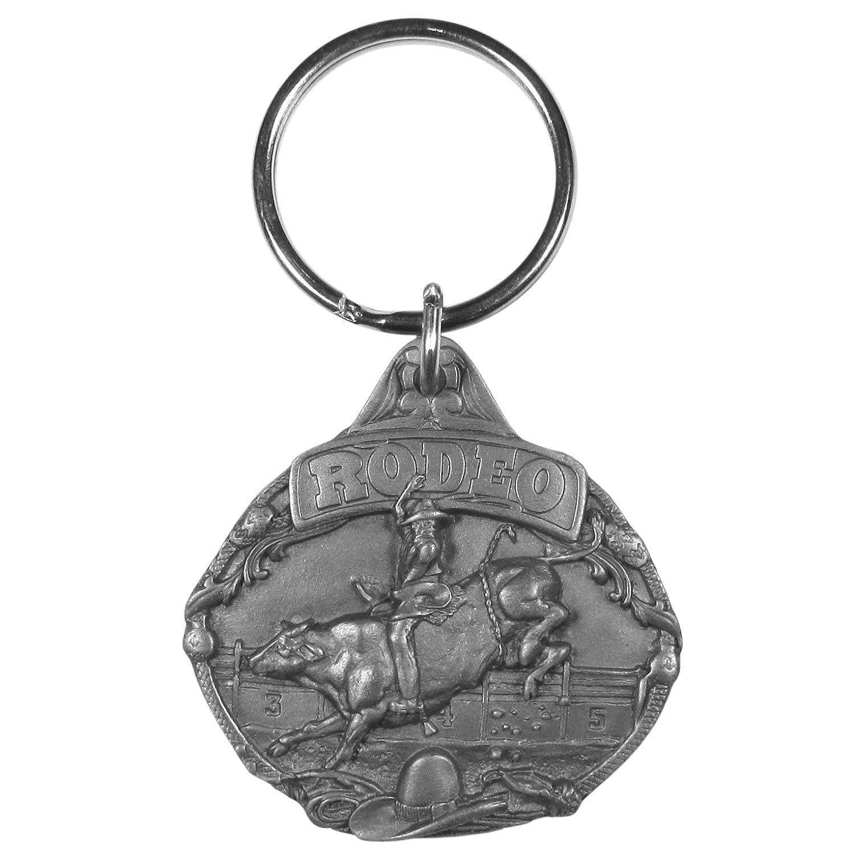 Siskiyou Rodeo Bull Riding Antiqued Key Chain
