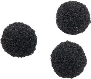 Darice 10174-90 100-Piece Acrylic Pom Pom, 1/2-Inch, Black