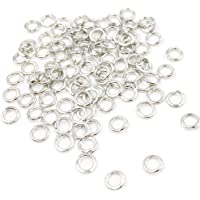 Dcatcher 1000 Pieces 4mm Open Jump Rings Jewelry DIY Findings for Choker Necklaces Bracelet Making, Silver
