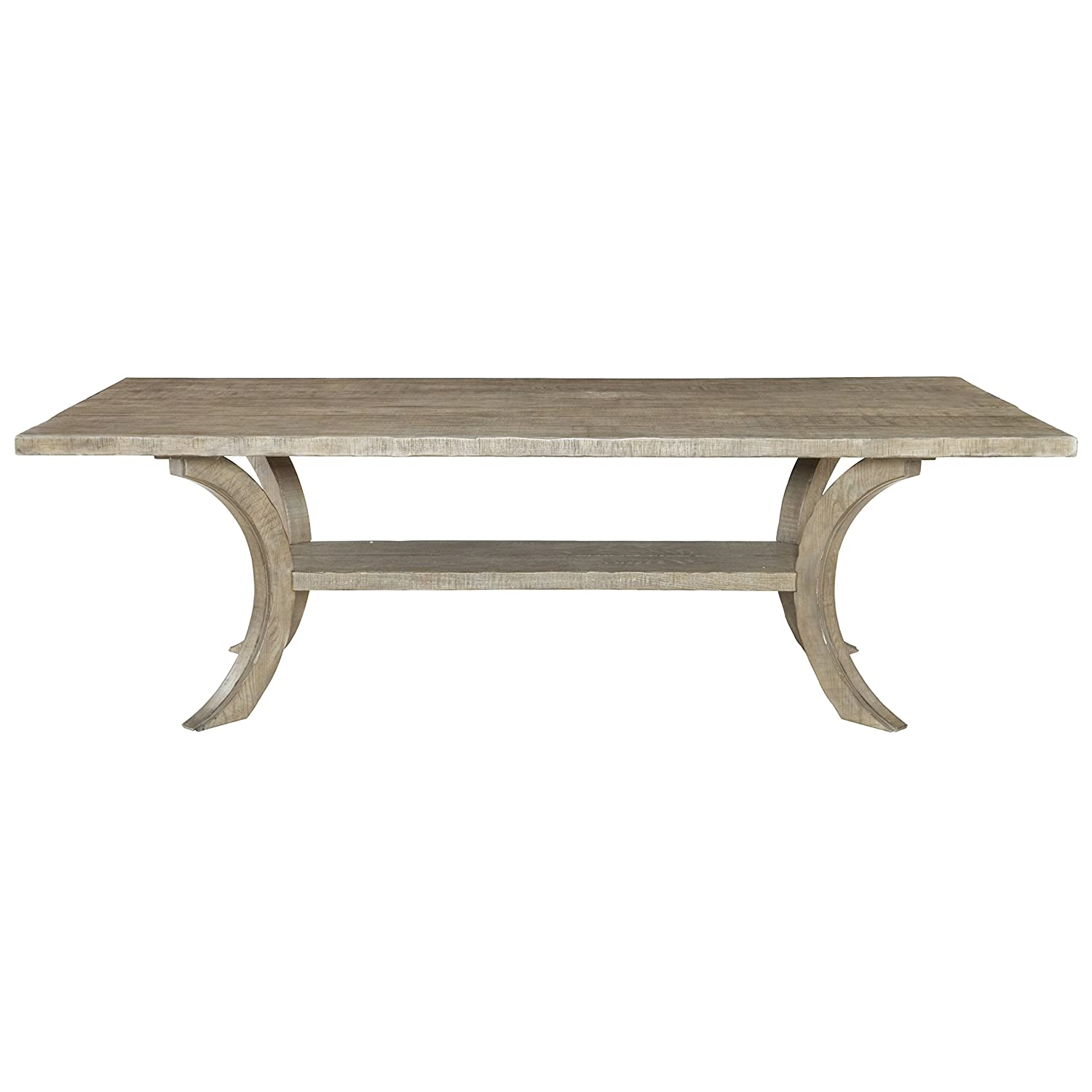Mayra French Country Rustic Oak Plank Dining Table