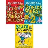 David Walliams Worlds Worst Children Collection 3 Books Set(Blob,The World's Worst Children1 and 2)