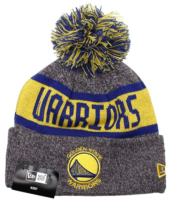 a74821e398b New Era Kids NBA Marl Knit Beanie - Golden State Warriors  Amazon.co ...