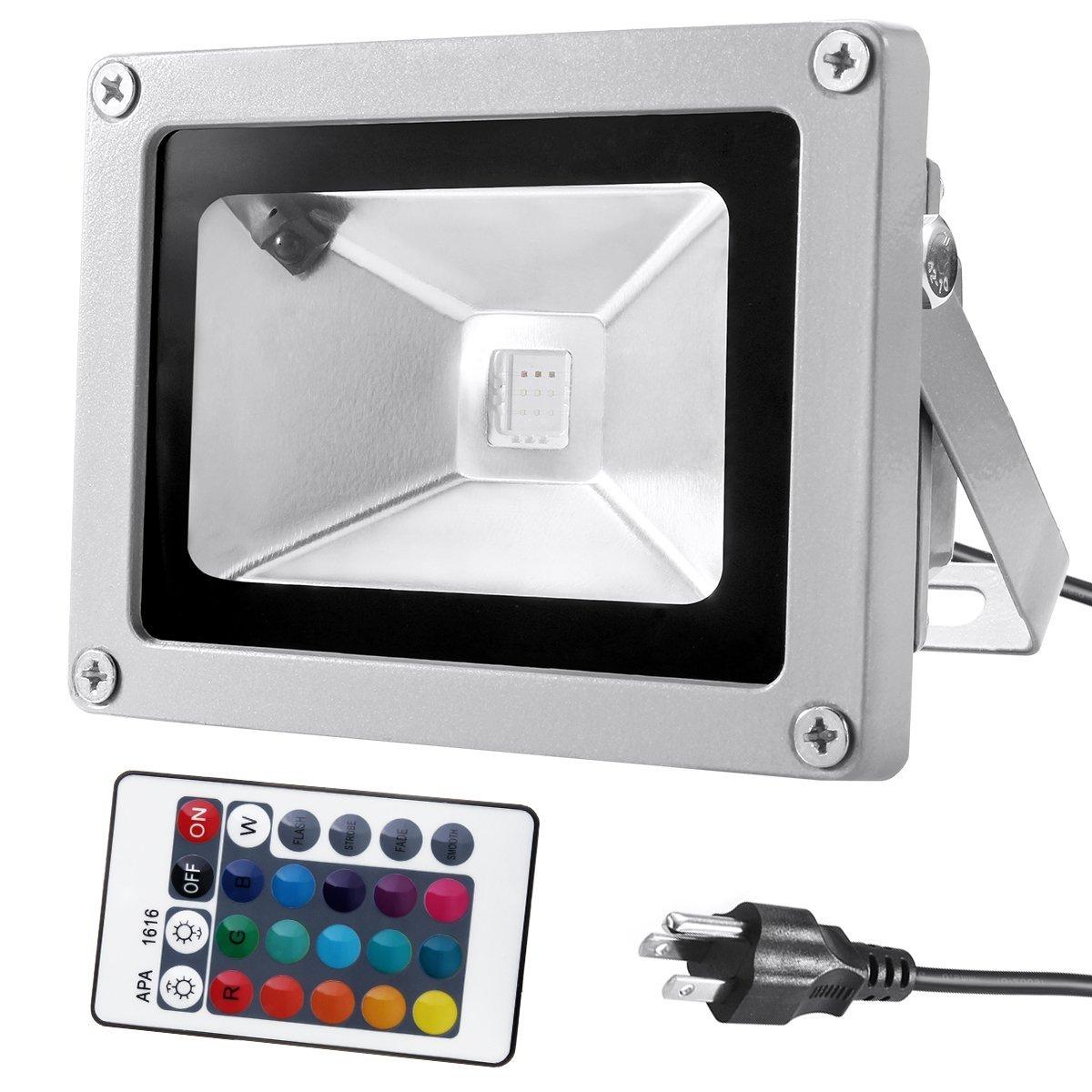 warmoon 10w waterproof led flood light with us 3-plug and ... lithonia flood light wiring diagram 480 volt
