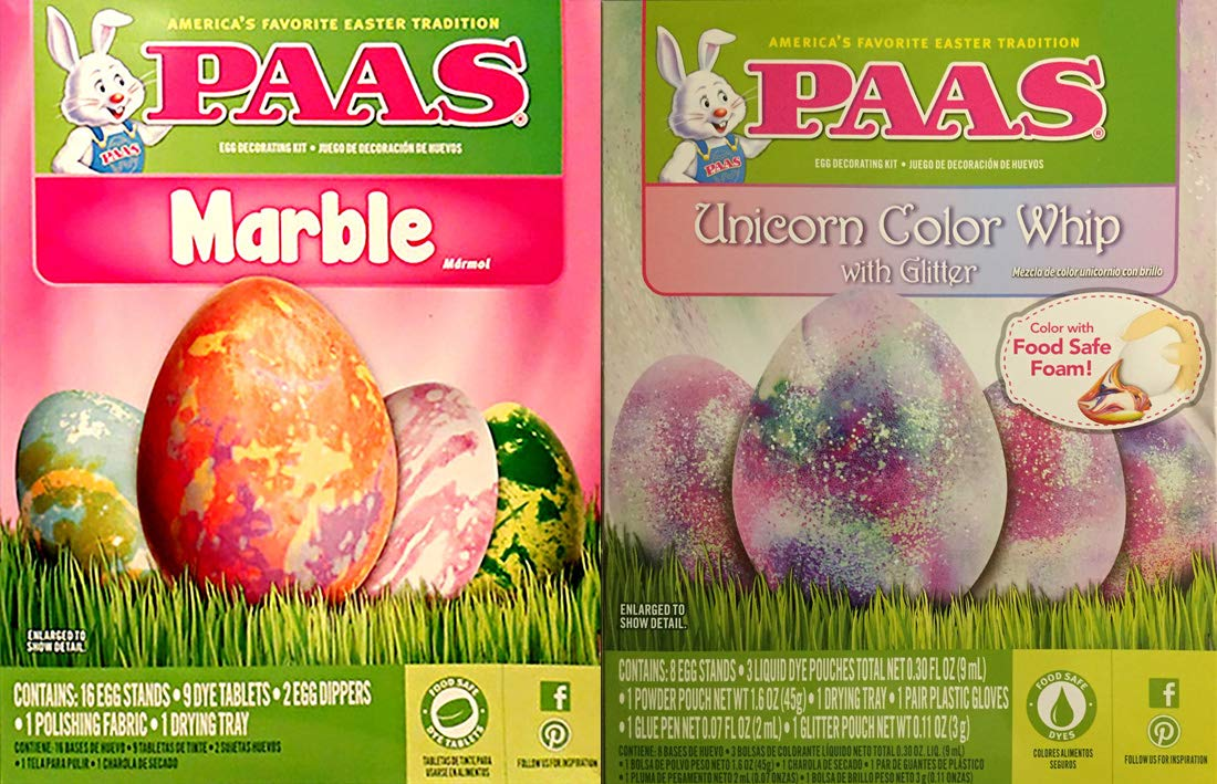 Amazon.com : Paas Marble and Unicorn Color Whip Easter Egg ...