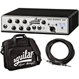 Aguilar Tone Hammer 500 Super Light 500 Watt Solid State Bass Amplifier Head with Drive Control, FX Loop and Balanced DI Output with Water Resistant Bag and Instrument Cable