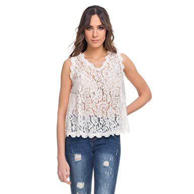 Sleeveless lace Blouse Summer Collection Women at Amazon Women s ...