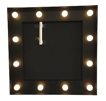 Mémo ardoise + cadre lumineux - Style Bistrot - Coloris NOIR: Amazon ...