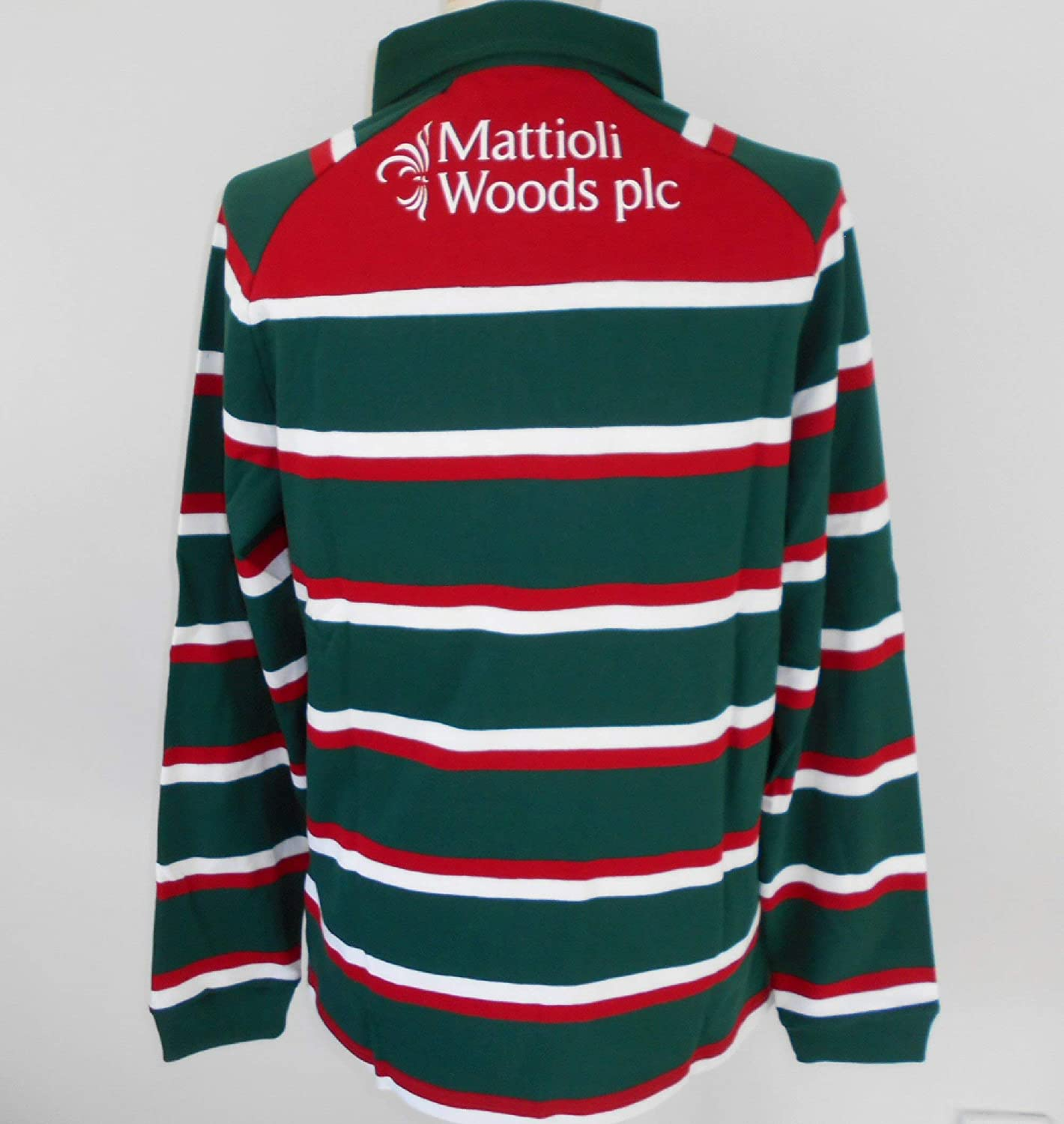 Kukri Leicester Tigers Mens Home Classic Long-Sleeved Rugby Jersey 2019-2020