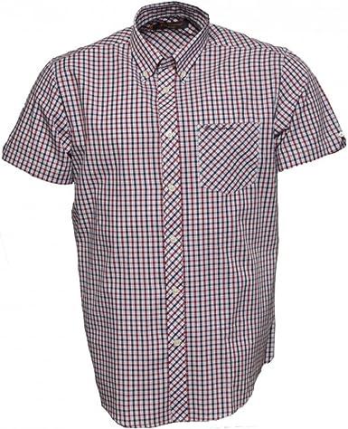 Ben Sherman - Camisa de manga corta para hombre Azul Azul Profundidades L: Amazon.es: Ropa y accesorios