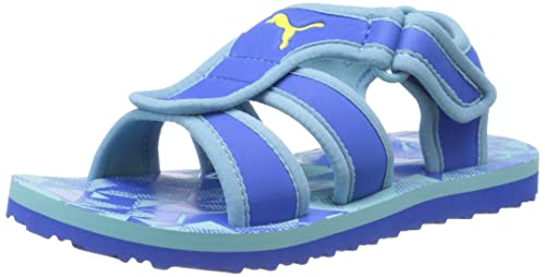 wholesale dealer e7157 59d79 PUMA SaoSao NG Kids Sandal , Strong Blue Delphinium Buttercup, 6 M US