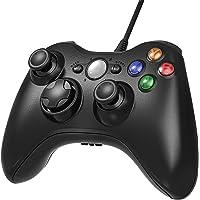 AiMis Manette filaire Xbox 360, USB Gamepad Controller Manette du Contrôleur de Jeu Filaire avec Double Vibration pour Windows7/ 8/ 10/ PC/ Xbox 360(Noir)