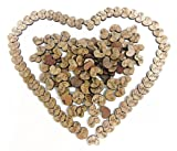 100pcs Wooden Love Hearts Natural Wood Crafts Decor Rustic Wedding Table Scatter Decoration