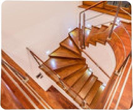my-puzzle-design alfombrilla de ratón Primer plano de una escalera de caracol de madera: Amazon.es: Electrónica