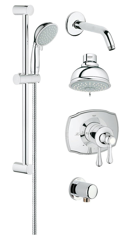 Grohflex Cosmopolitan 1-Spray Thermostatic Shower System - 2.5 Gpm ...