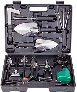 ORDA Garden Tool Set 14 Pieces Stainless Steel Gardening Hand Tool Kit Gift for Women Men Gardener Plant Lover,Heavy Duty Tools Black
