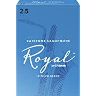 Royal by D'Addario Baritone Sax Reeds, Strength 2.5, 10-pack