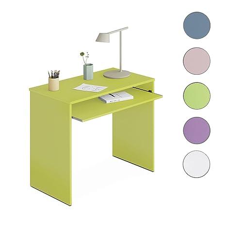 Due-home Habitdesign 002314V - Mesa de Ordenador con Bandeja Extraible, Color Verde, Dimensiones: 90x79x54 cm de Fondo
