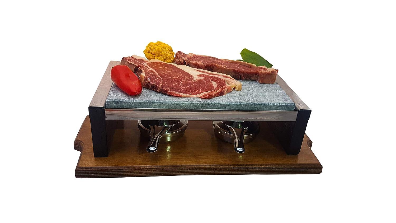 Piedra para Carne de 20x30 Bicolor Roble-Nogal: Amazon.es