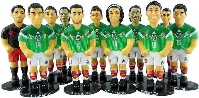 minigols Mini futbolín mesa con 11 figuras de tu equipo y figuras de 11 Generic - 2MEX-2014-2: Amazon.es: Deportes y aire libre