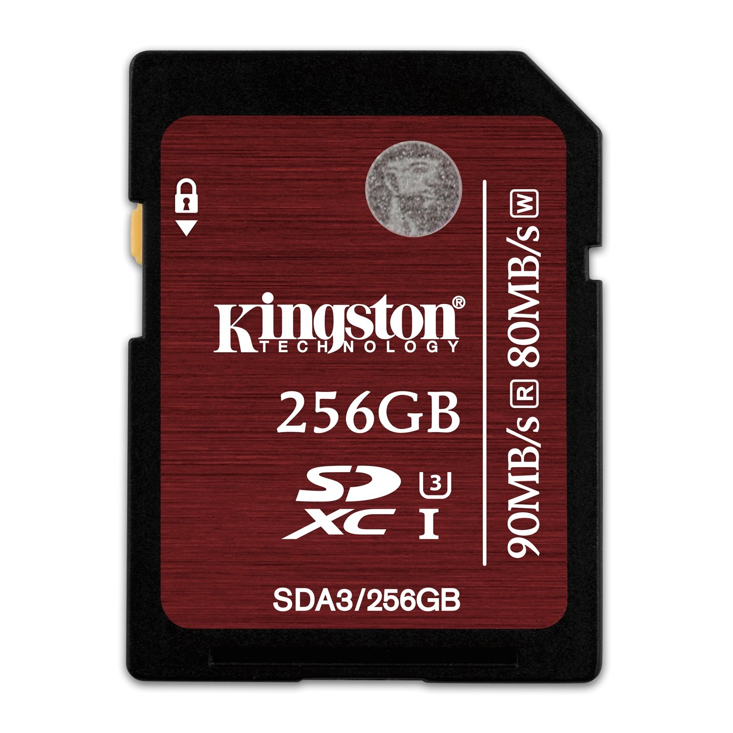 Kingston Digital 256GB SDXC UHS-I Speed Class 3 90MB/s Read 80MB/s Write Flash Memory Card - SDA3/256GB