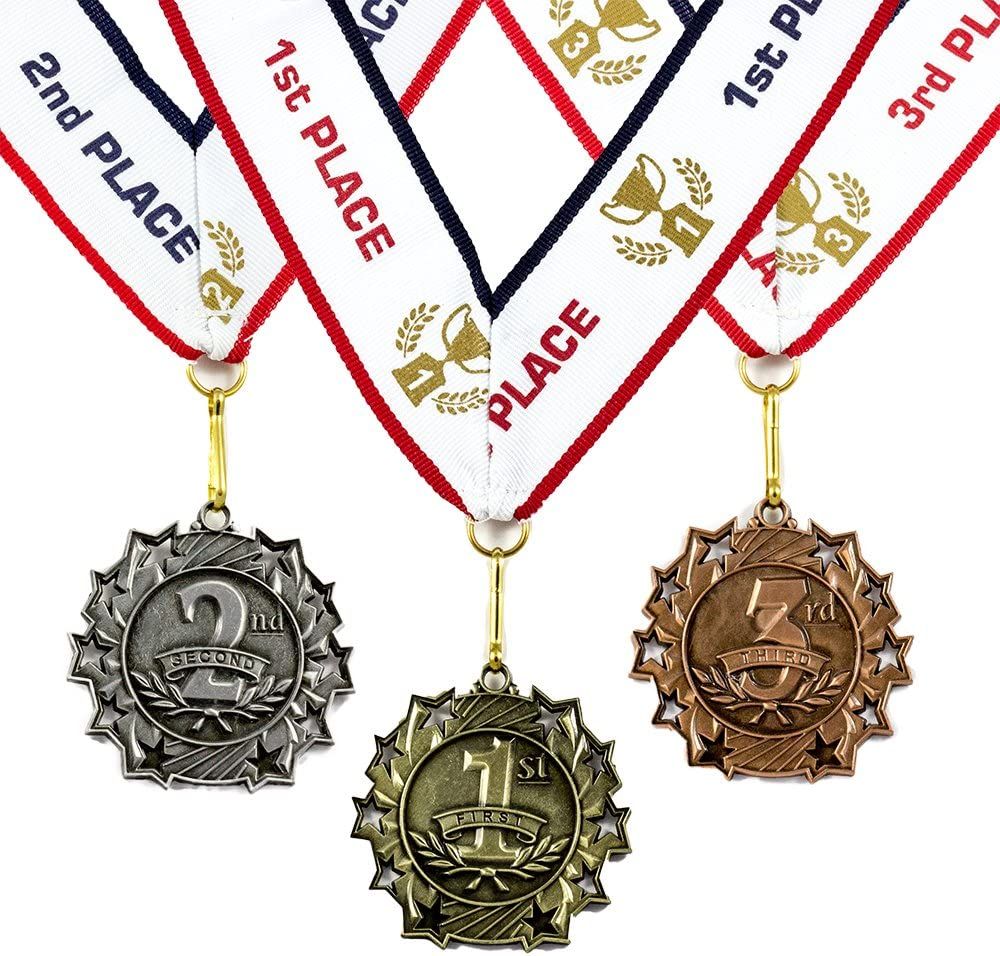 Single set of 1st 2nd and 3rd place medals