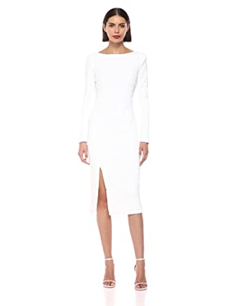 855f4ef9f9e Dress the Population Women s Natalie Long Sleeve Stretch Sequin Midi Sheath  Dress