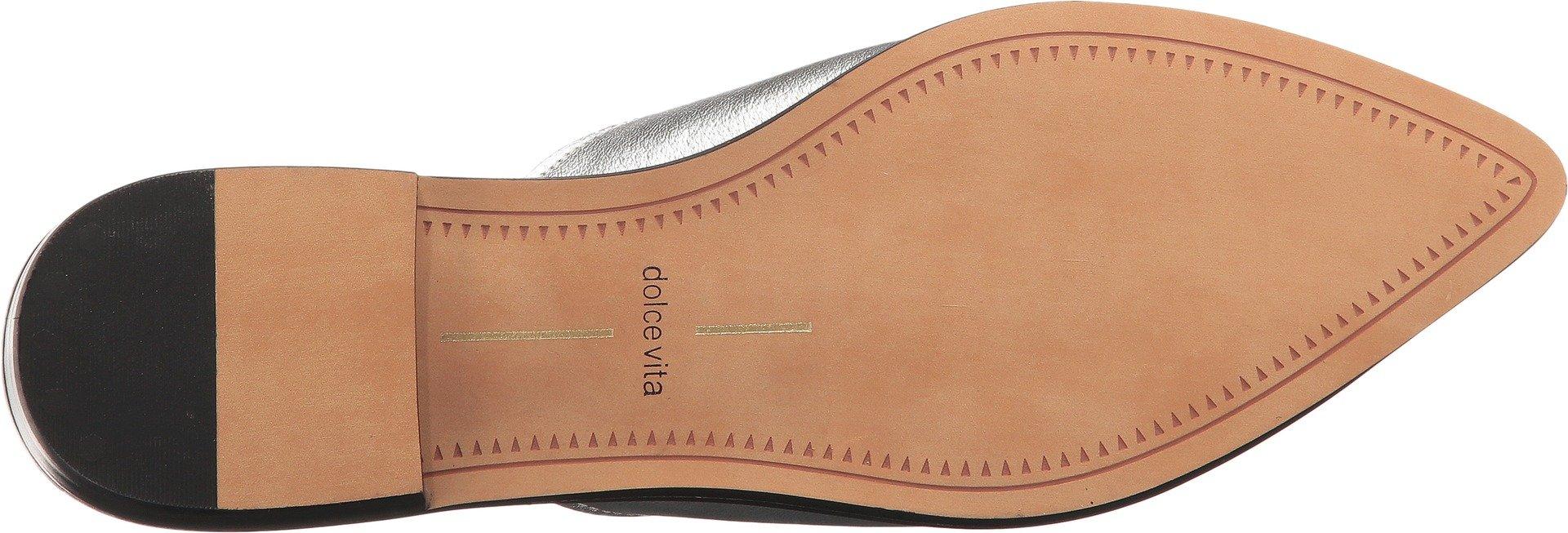 Dolce Vita Women's Holli Mule, Silver Leather, 9 Medium US