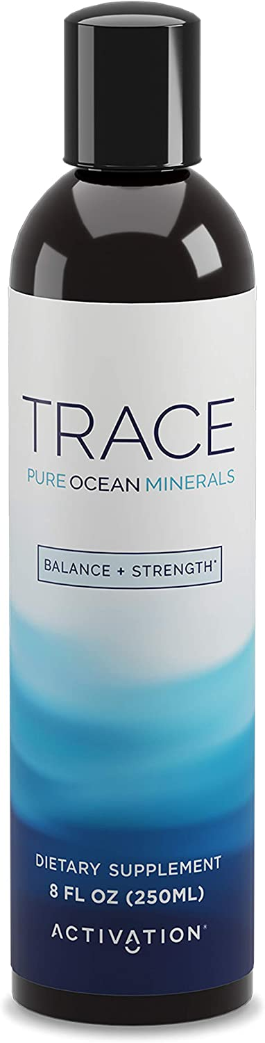 Activation Products Trace Minerals Supplement – Liquid Trace Minerals for Water – Ionic Mineral Drops for Drinking Water – Essential Sea Minerals for Improved Health, 250ml / 8 Fl.Oz.