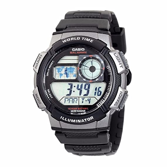 Casio Reloj Analogico-Digital para Unisex AW-1000W-1B: Amazon.es: Relojes