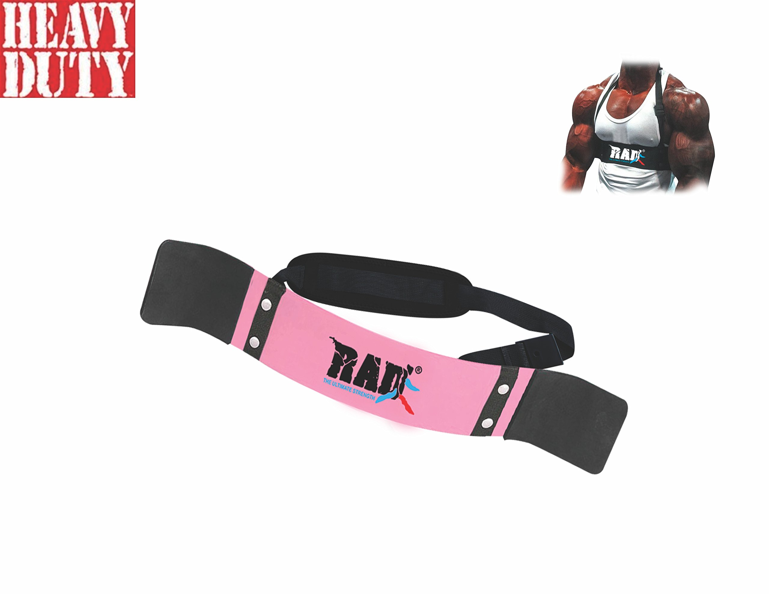 RAD Arm Blaster Body Building Bomber Bicep Curl Triceps Muscle Builder (Pink)