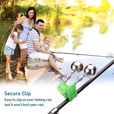 20 Pcs Fishing Rod Fishing Stick Alarm Bells Double Bells Clip Style Dual Bells