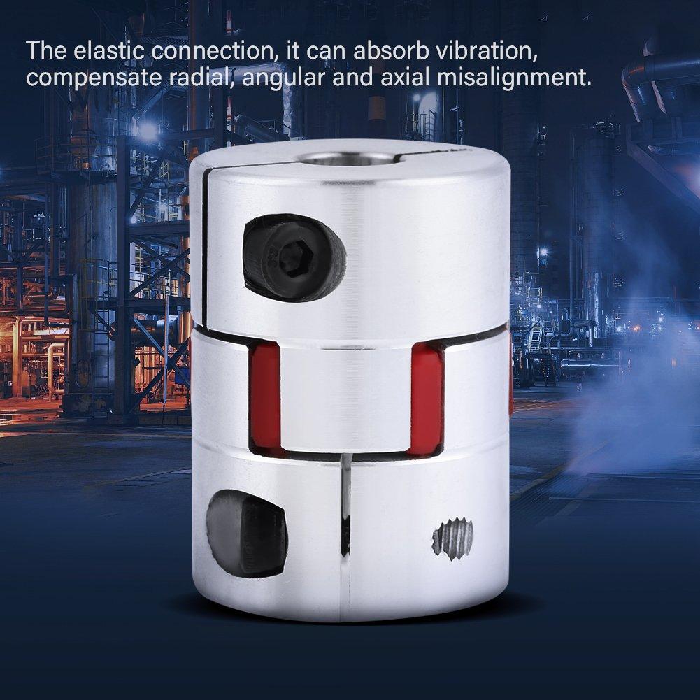 Aleaci/ón de aluminio de alta resistencia Eje de acoplamiento de ciruela acoplamiento flexible del eje de ara/ña OD30mm x L40mm Conector de acoplador de motor paso a paso CNC