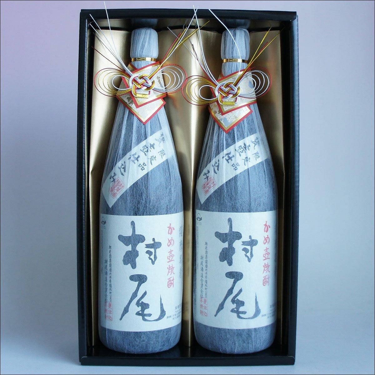 村尾X2本セット「感謝:金蓋紙箱入おめかし」25度 芋焼酎 1800ml B078RBYTGQ