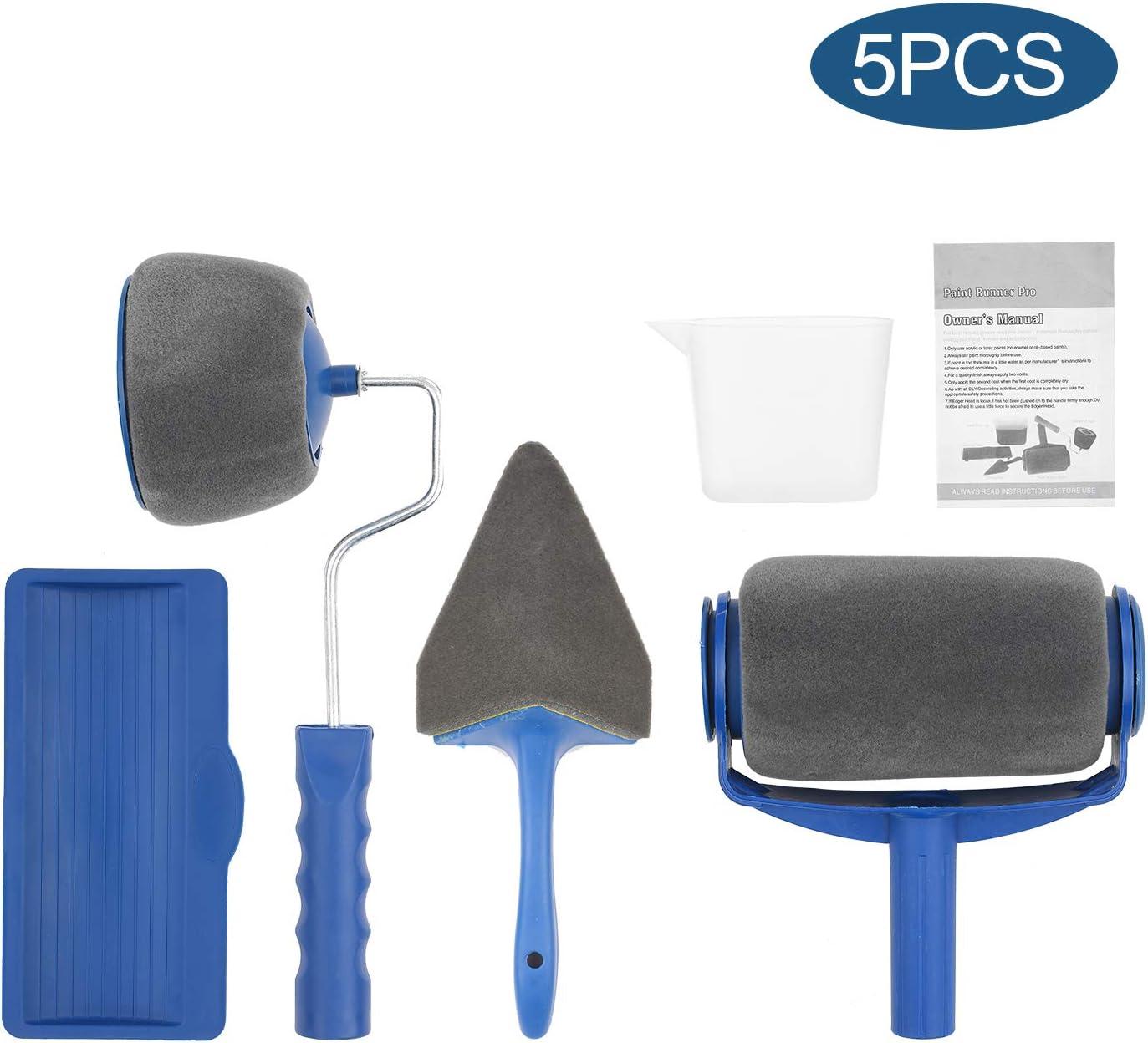 Kecheer herramienta de pintura pared,rodillo de pintura pared kit,juego de rodillos de pintura,pincel de rodillo pincel de esquina