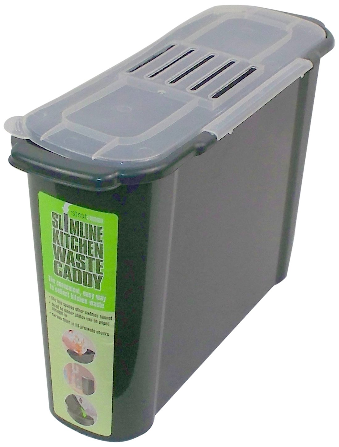 Amazon.com : Bosmere K779 Slim Kitchen Recycled Plastic Compost Caddy :  Indoor Compost Bins : Garden U0026 Outdoor