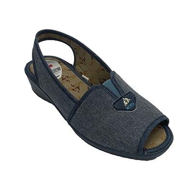 Made In Spain Femme Chaussure à Bout Ouvert et Talon avec