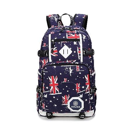 Backpack Mochilas Escolares Mujer Mochila Escolar Lona Bolsa Casual Bolsa De Hombro Mensajero