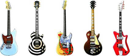 George Morgan Illustration Cinco Famosas Guitarras eléctricas ...