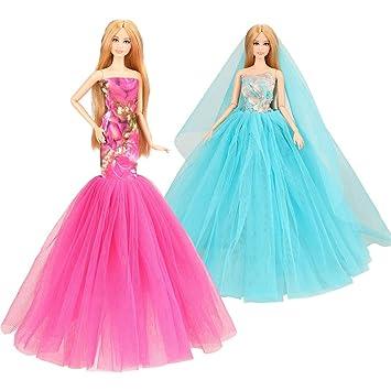 Amazon.es: Miunana 2X Trajes de Vestidos para 11.5 Pulgadas 28 ...