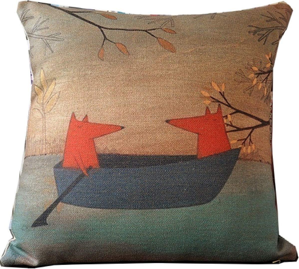 d/écoration de la taille du canap/é Throw Pillow Cover Nouvelle taie doreiller en coton imprim/é de chat noir pour la housse de coussin en coton pour v/éhicules de camping