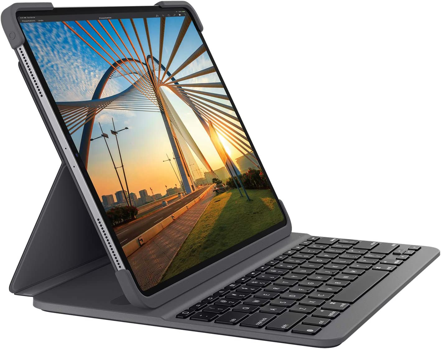 Generazione Logitech SLIM FOLIO PRO Bluetooth Keyboard Case con retroilluminazione per iPad Pro 11 pollici - Grafite 1. e 2