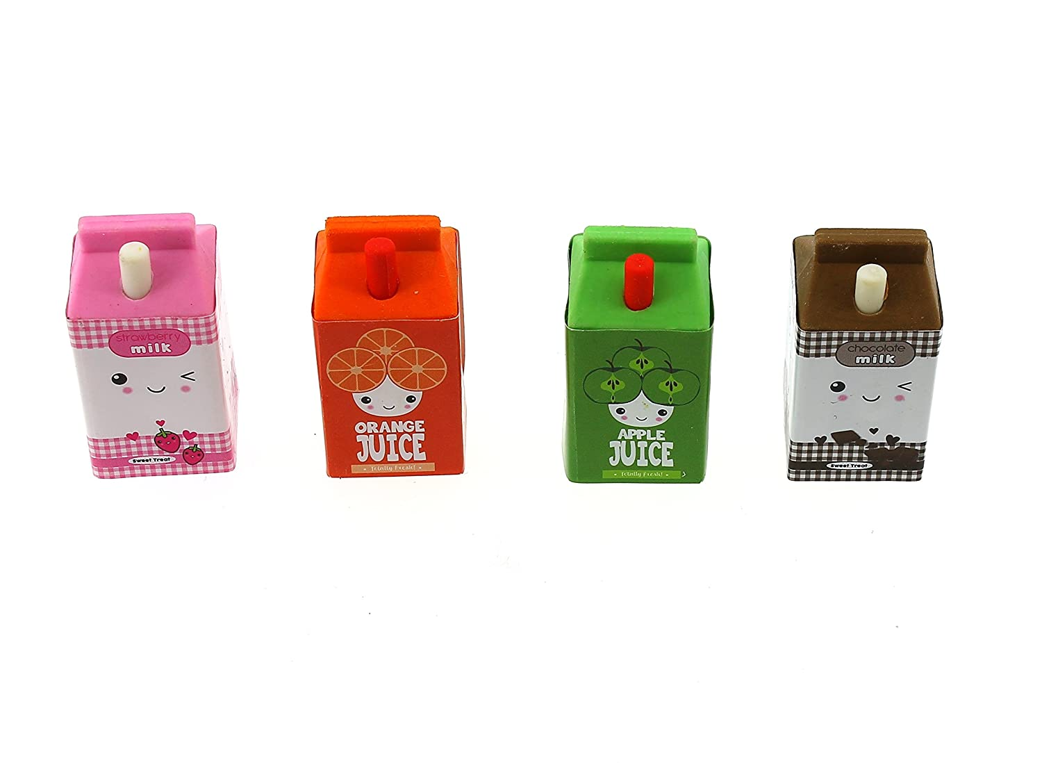 Novelty Erasers Scented juice and milk cartons Blueprint Collections ERAS2111