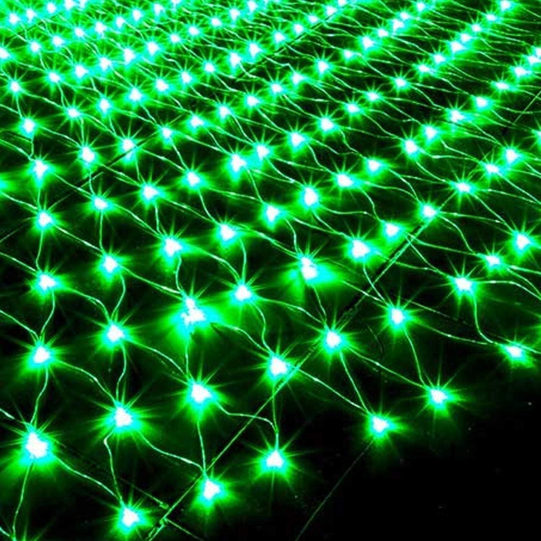 Net Lichterketten, Nettolichter, LED-Lichterketten, LED-Lichterketten, Weihnachtsbeleuchtung, 8 Modi Schnur-Lichter for Weihnachts-Geburtstags-Party Hochzeit Garten-Dekorationen, mit Schwanz, (Grün) Green-8pcs-4.9x4.9ft