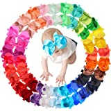 30 Colors Baby Girls Headbands 6Inch Big Hair Bows Elastic Hair Bands Headbands Hair Accessories for Newborns Infants…